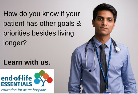 How do you know if your patient has more goals and priorities beside living longer